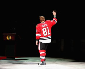 Chicago Blackhawks forward Marian Hossa is 34 and has years left on his current contract. (Getty)