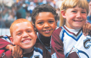 Seth Jones(middle) as a kid wearing a Colorado Avalanche jersey. (Denver Post)